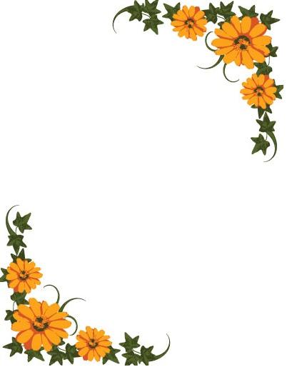 Margen para hojas de flores - Imagui