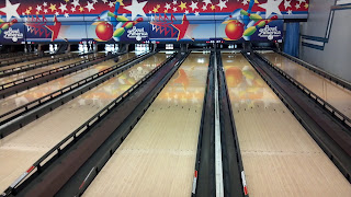 bowling lanes with gutter bumpers