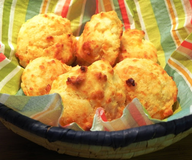 The Iowa Housewife: Hot Cheese Drop Biscuits