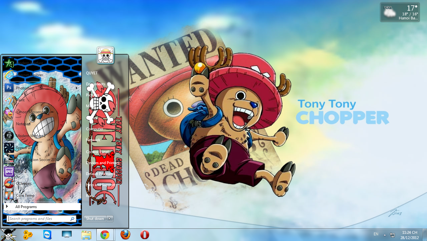 Theme Chopper Cho win 7