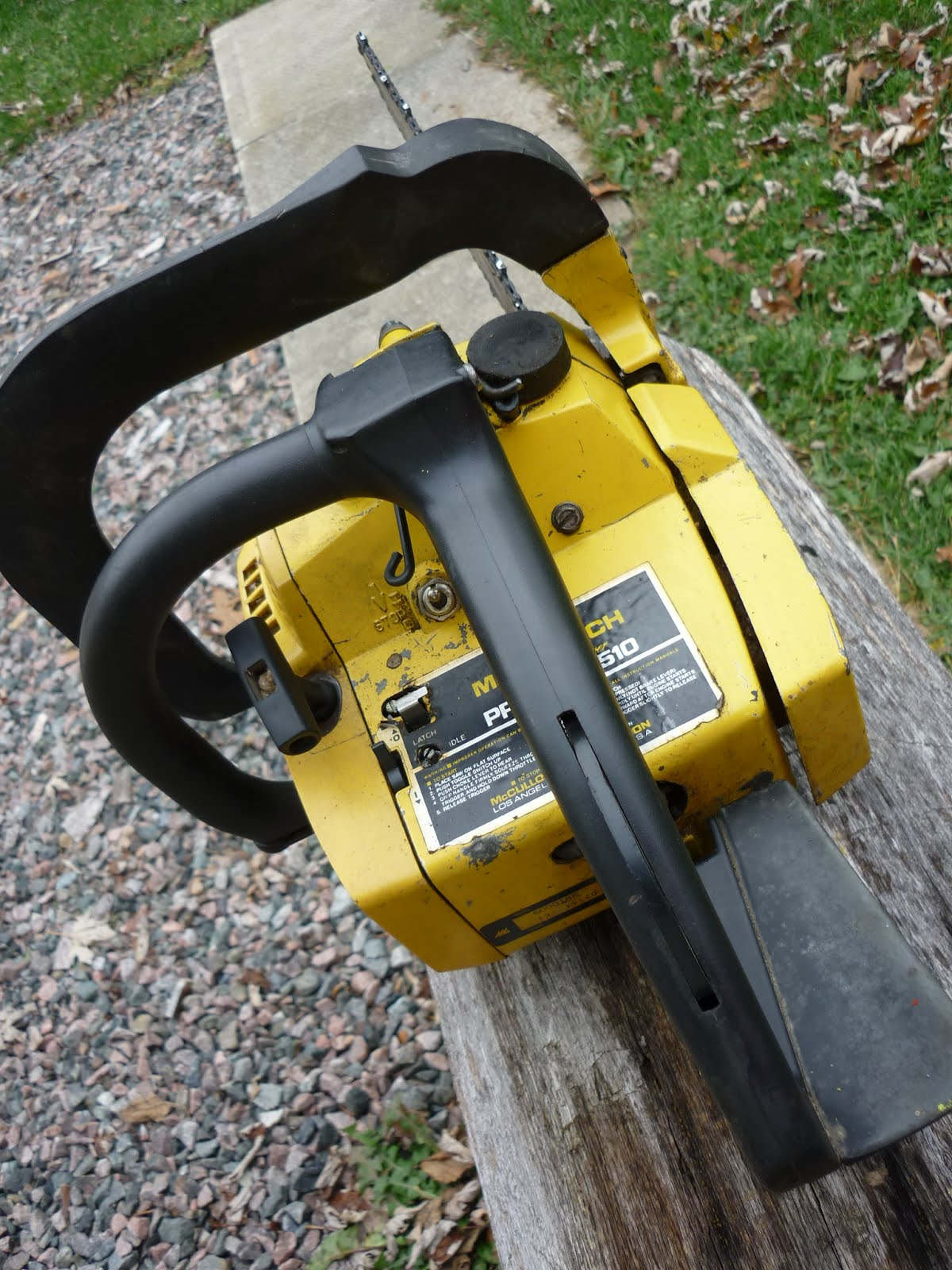 VINTAGE CHAINSAW COLLECTION: MCCULLOCH GROUP OF SAWS.