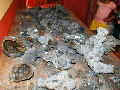 restos del meteorito en ichmul yucatan mexico