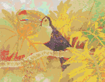 Картина из стеклянной мозаики «Тукан»
