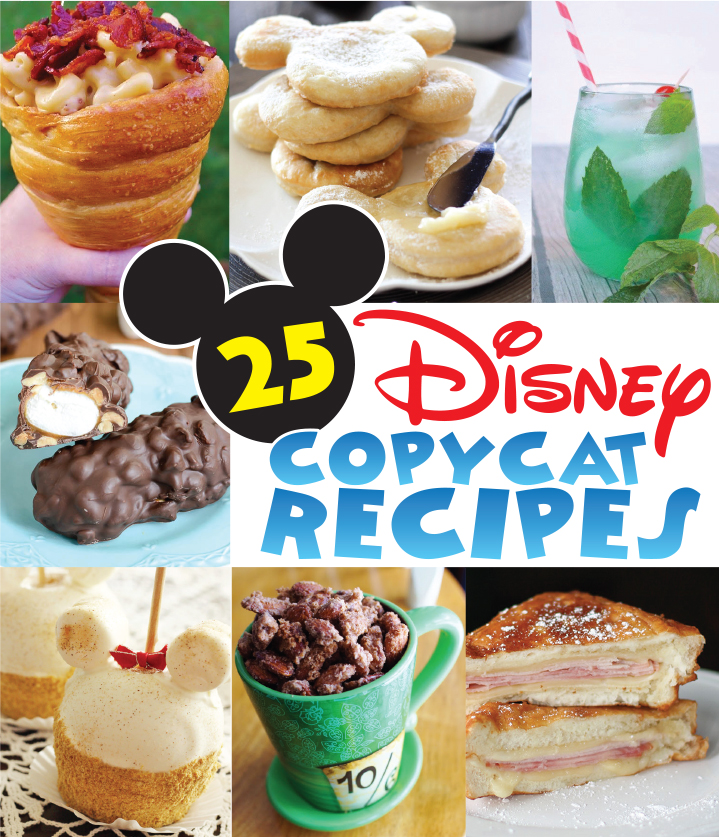 25 Disney Copycat Recipes at artsyfartsymama.com #Disney