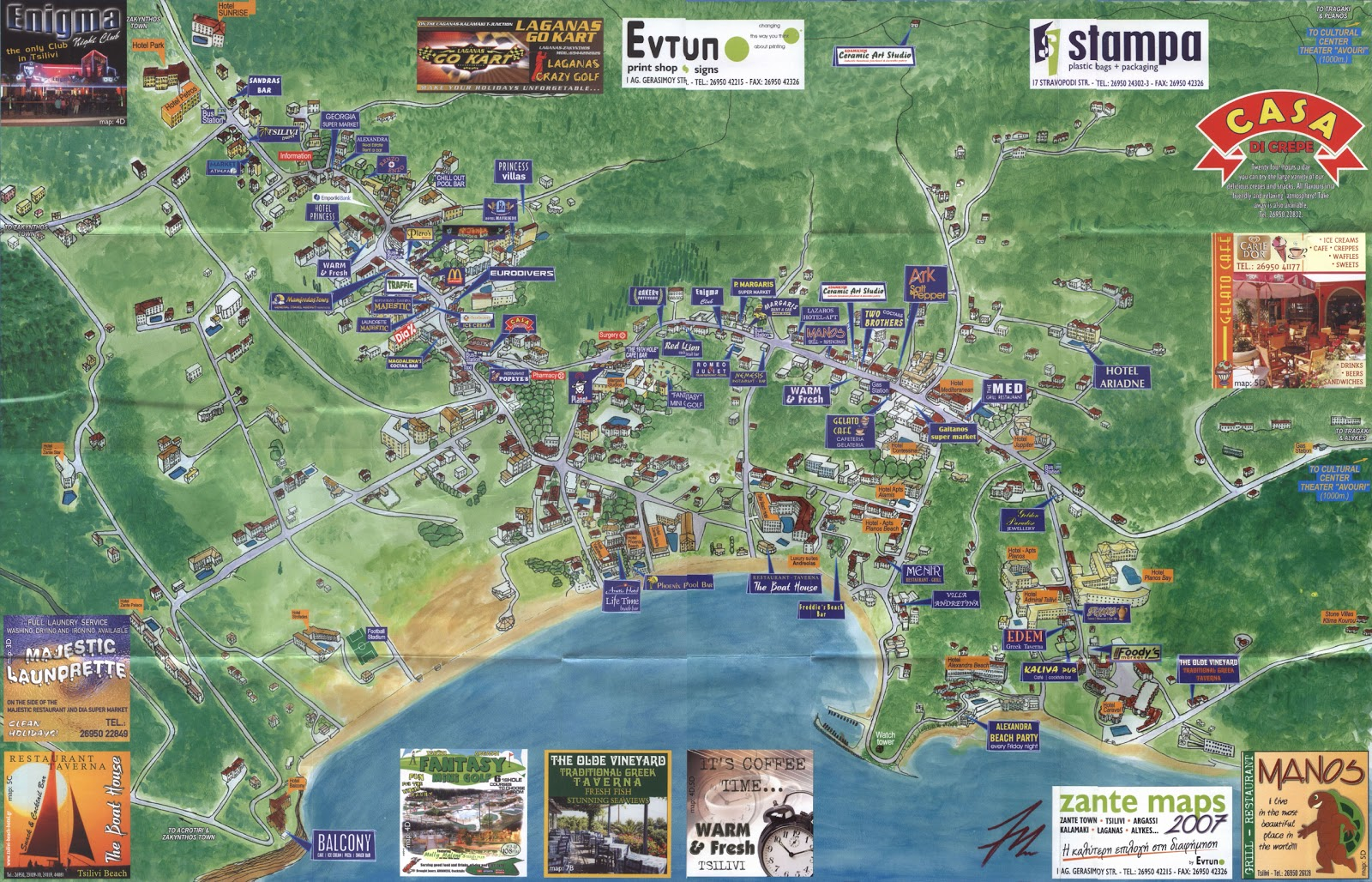 Zakynthos Travel Guide Holiday Guide to Tsilivi