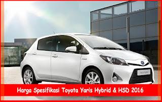 Spesifikasi Toyota Yaris Terbaru 2016