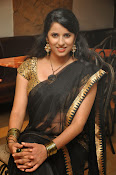 Sravya reddy sizzling saree photos-thumbnail-14