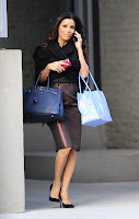 Eva Longoria talking on her mobile phone