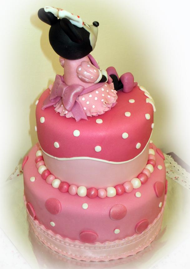 Delana S Cakes 2 Tier Polka Dot Minnie Mouse Cake