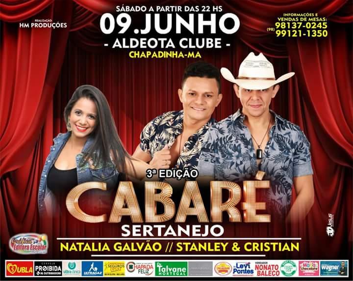 Cabaré Sertanejo - Dia 09 de Junho