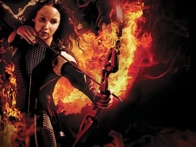 Hunger Games 2 Catching Fire Katniss Jennifer Lawrence poster fire arrow