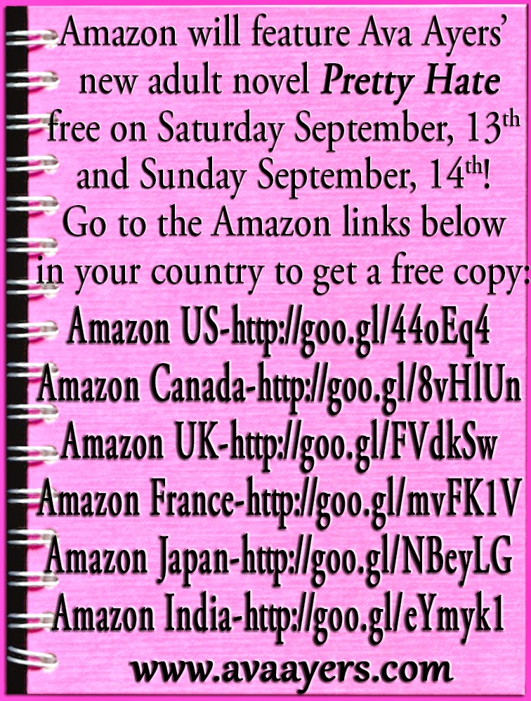AVA AYERS PRETTY HATE FREE ON AMAZON SEPTEMBER 13 AND 14