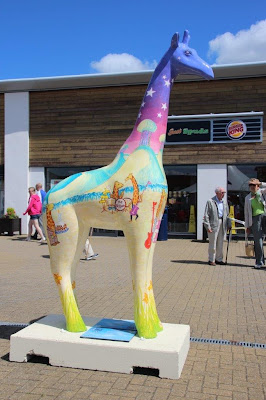 Nextra-terrestrial giraffe by Ingrid Sylvestre at Clacton Factory Outlet