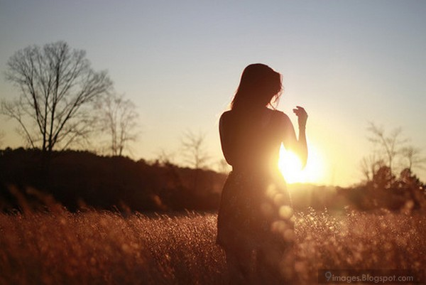 alone sunset girl cute beauty sadness beautiful