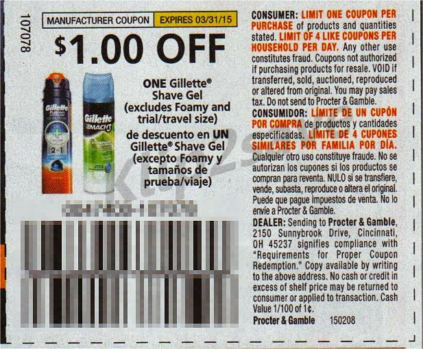 photo regarding Gillette Coupons Printable identified as Serious Couponing Mommy: STOCKUP Rate upon Gillette Satin