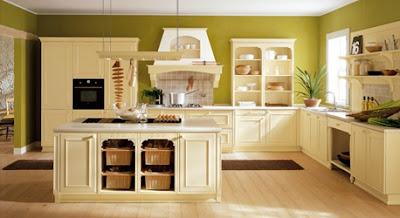 Decora y disena 11 hermosas cocinas color verde for Muebles oliva