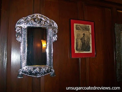 silver gilted-mirror at Barbara's Restaurant Intramuros