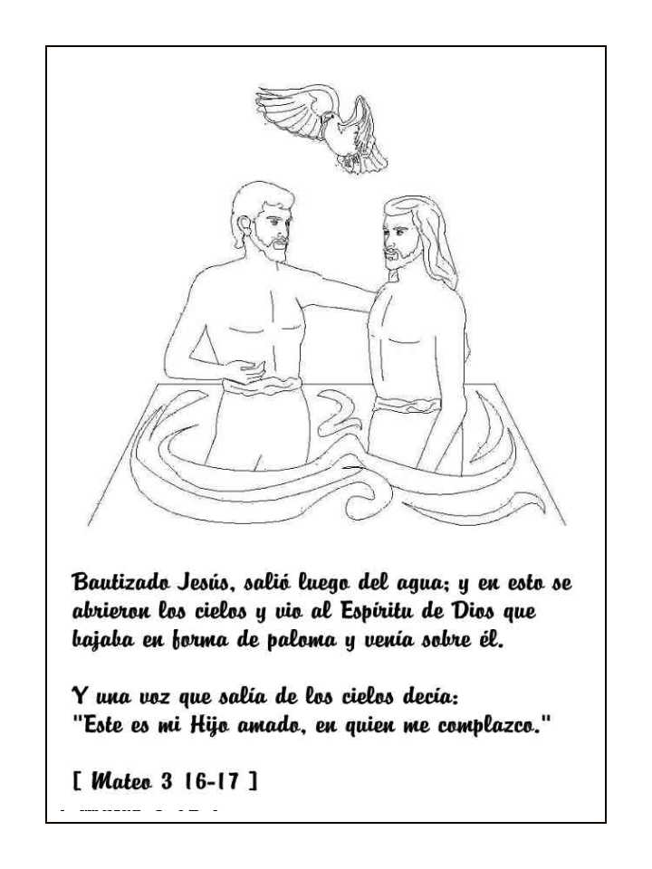 Imagen del Bautismo de Jesús para colorear ~ Mi vida sin Cristo no ...