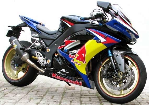Modifikasi Motor Kawasaki ninja redbull