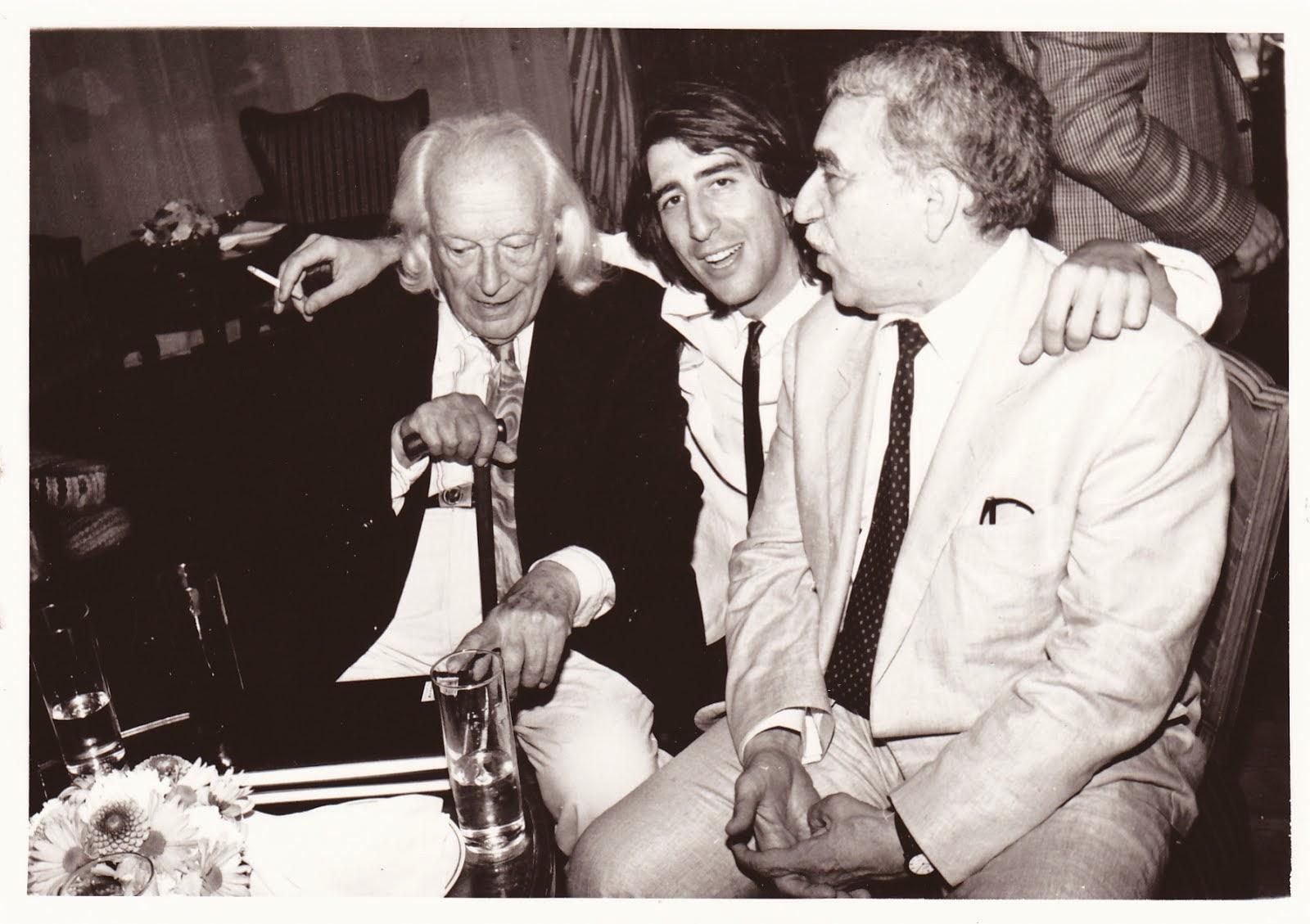 Con Rafael Alberti y Gabriel García Márquez