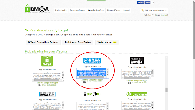 Cara Memasang Widget DMCA Protection di Blog