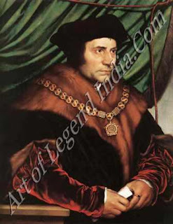 "The Great Artist Hans Holbein Painting ""Sir; Thomas More"" 1527 29''x 23"" Frick Collection, New York"