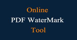 online pdf watermark tool