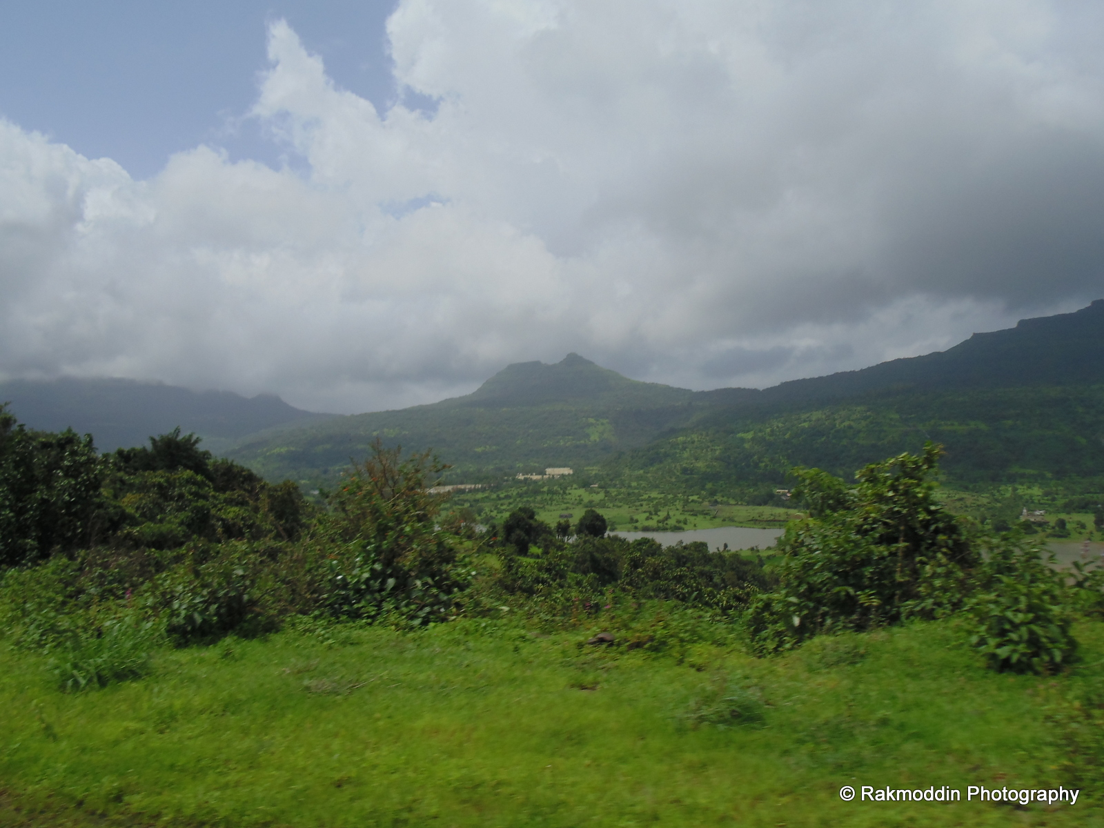 Scenic views on the way to aamby valley via tikona fort road