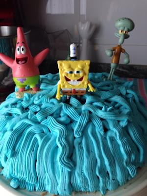Tarta azul - Bob Esponja