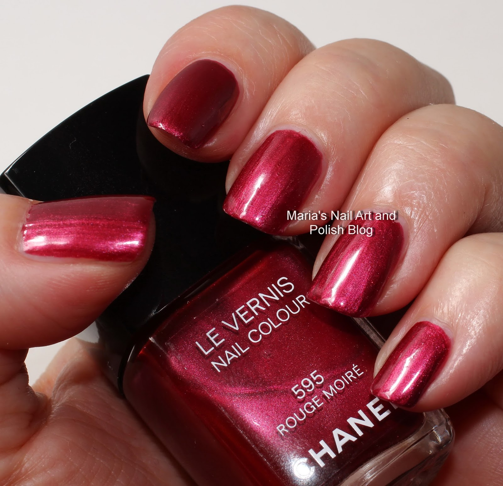 Marias Nail Art And Polish Blog Flushed With Stripes And: Marias Nail Art And Polish Blog: Chanel Rouge Moire 595