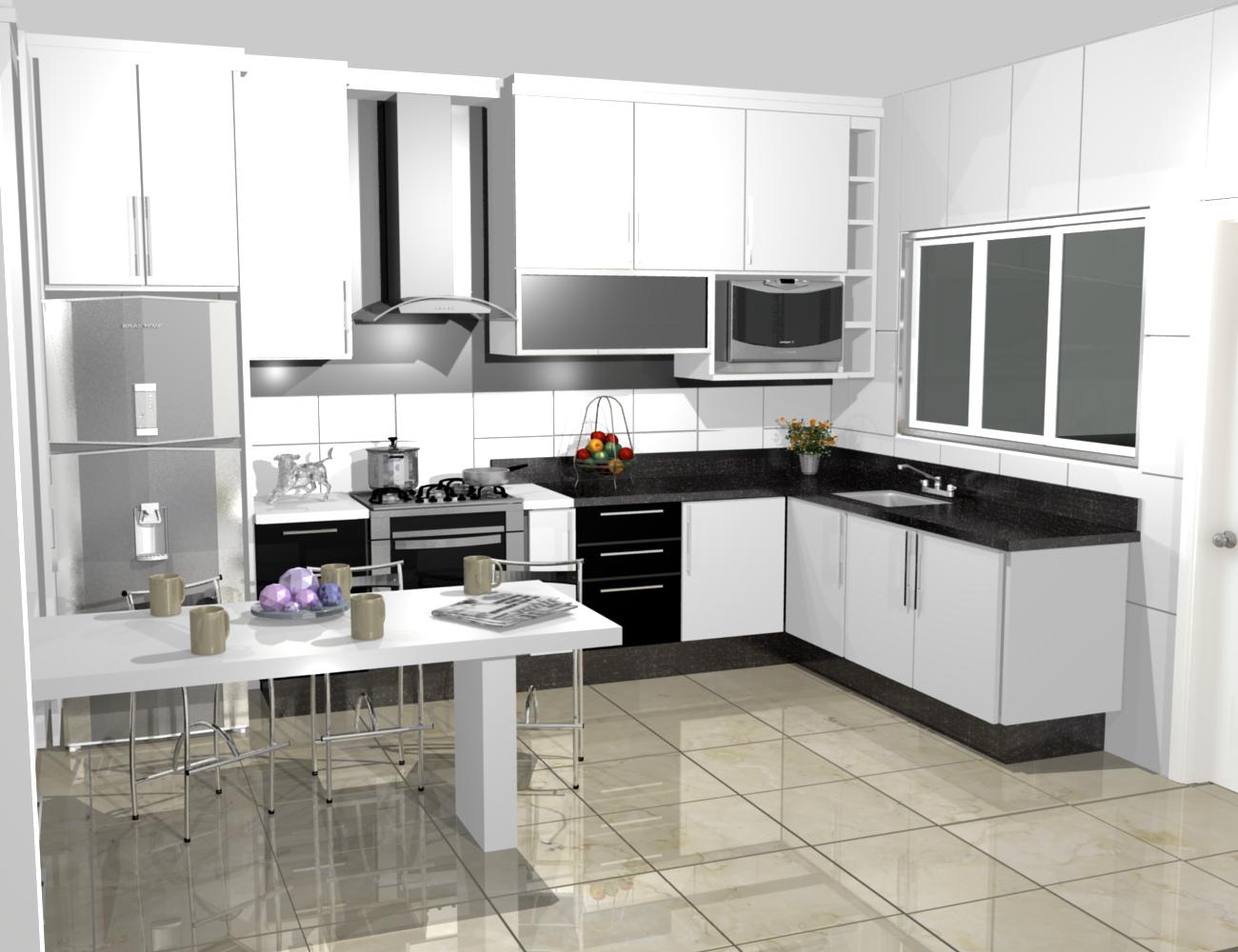 PROJETOS (11) 3976 8616: cozinha planejadas pequenas decorada #624538 1300 1000