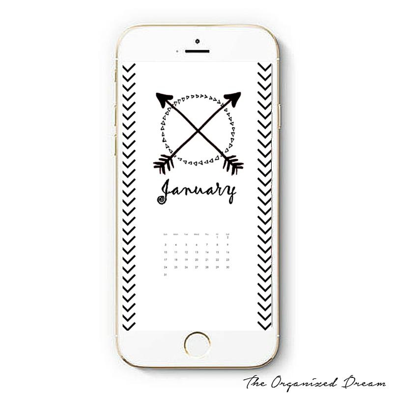 Calendar Wallpaper Phone : Free january calendar wallpapers the organized dream