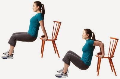 Dips avec chaise pour de jolis triceps