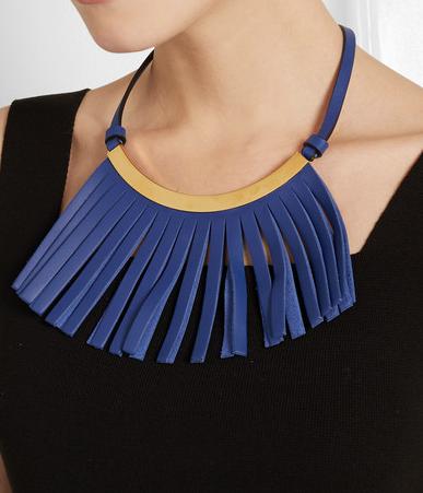 Collar piel flecos Marni SS 2015