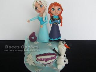 Bolo de aniversário Frozen o reino do gelo