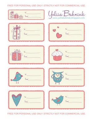 Yuliia bahniuk free printable gift tags free printable gift tags negle Image collections