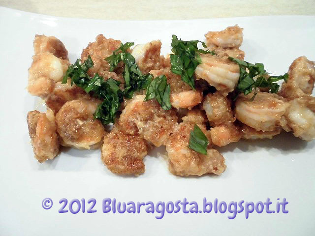 Gamberoni hawaiiani in salsa di burro e aglio, hawaiian garlic butter shrimp
