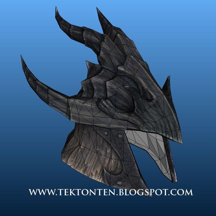 Dragonscale Helmet Papercraft