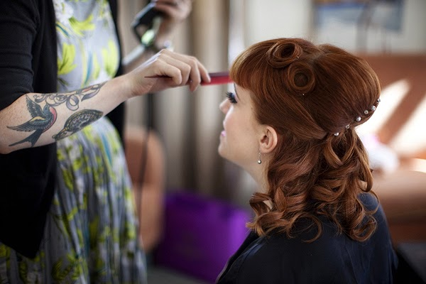 westminster wedding, London, pimps and pinups, vintage hair