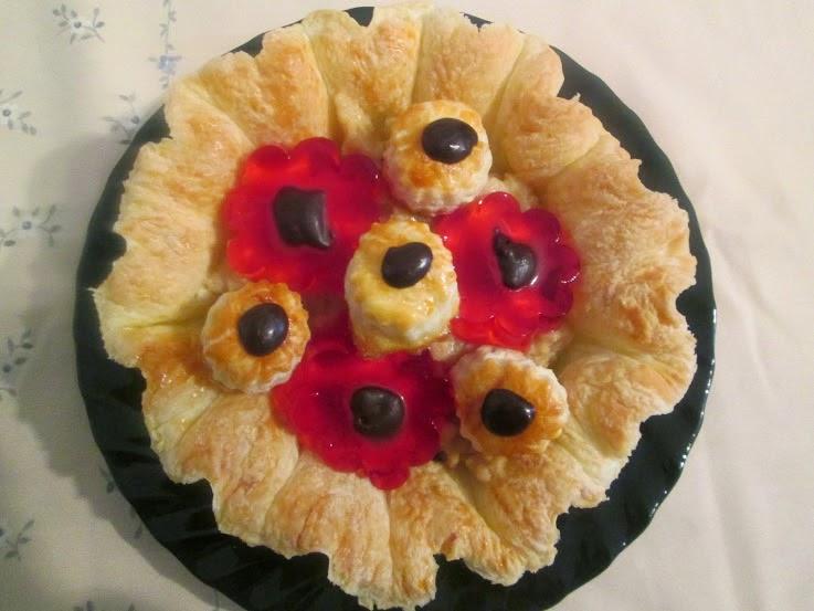 Cocineros del mundo flor de hojaldre con crema y - Flores para cocinar ...