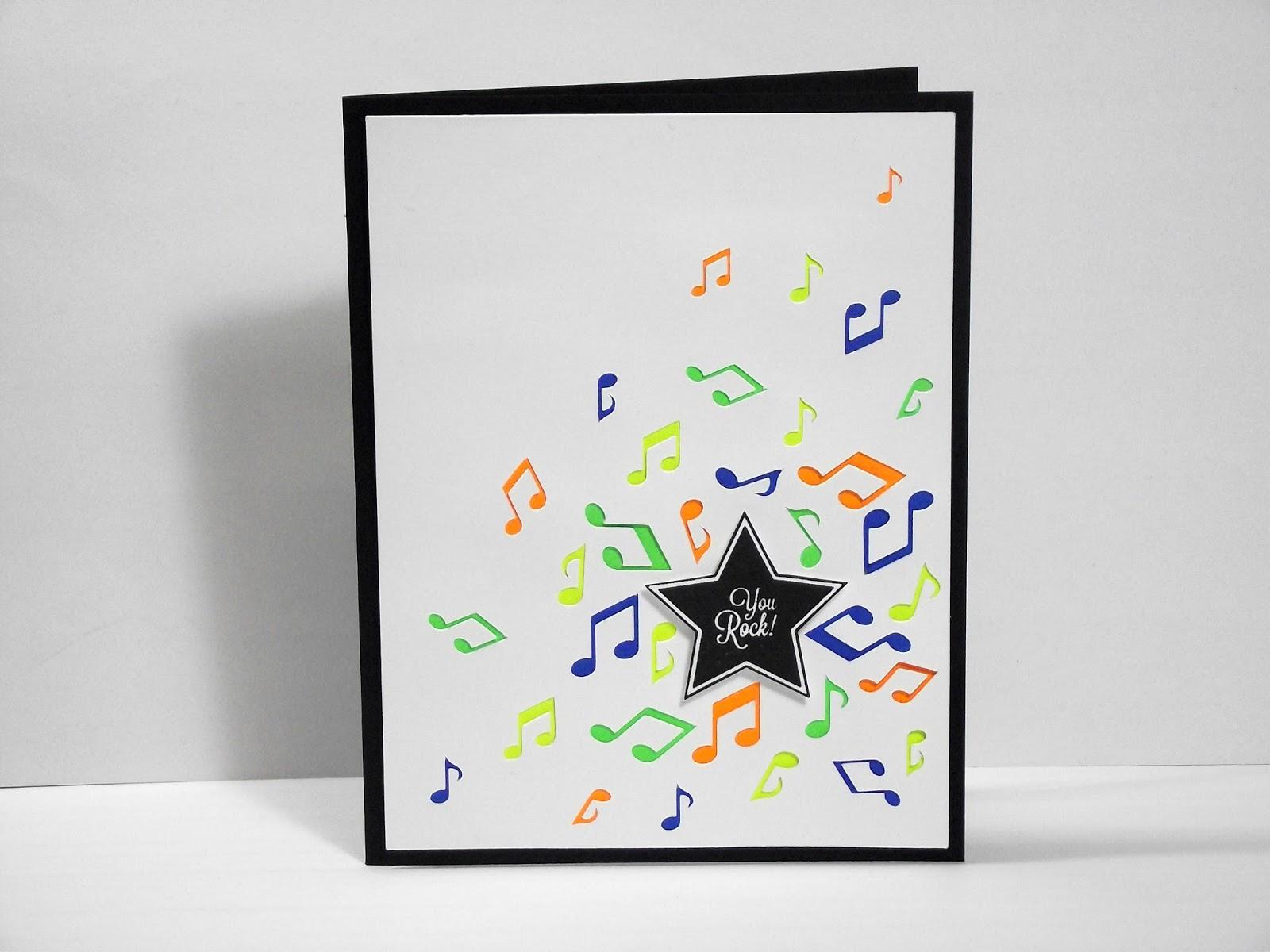 Tarjetas de cumpleaños de notas musicales - Imagui