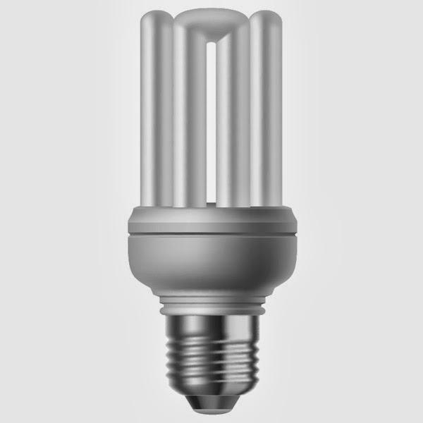 Energy Saving Bulb in Illustrator