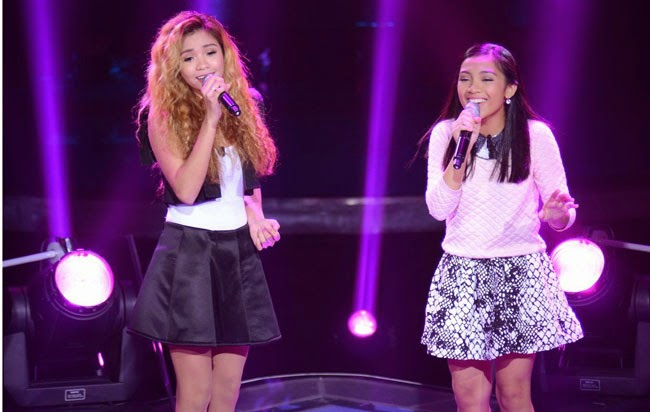 "Team Sarah's Demie Fresco vs. Rosalyn Navarro sings ""Tell Him"" on December 13 Battle Round"
