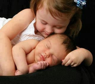 cute lovely babies kissing and expressing love