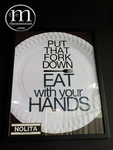 Put that fork down and eat with your hands poster