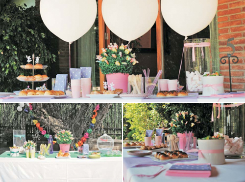 Fondo de globos para mesa de dulces