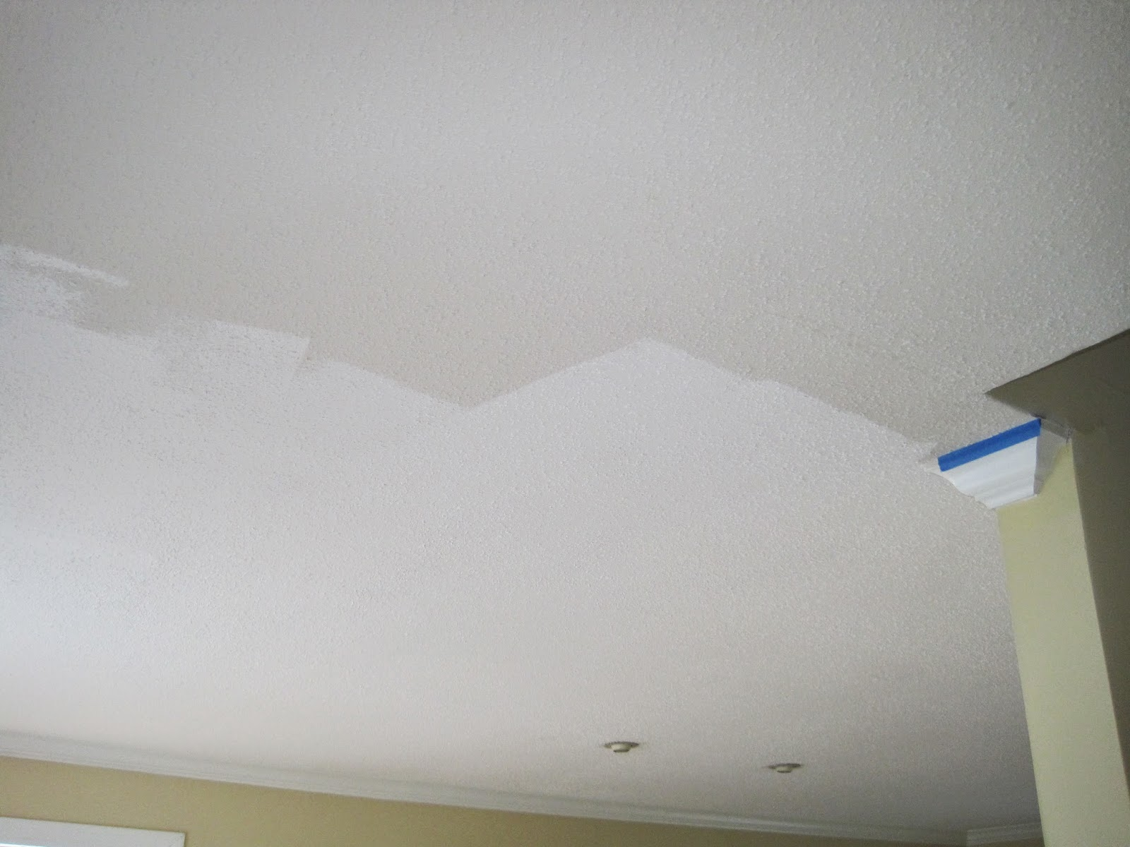 Decorated chaos tips for painting a popcorn ceiling for How to paint a ceiling