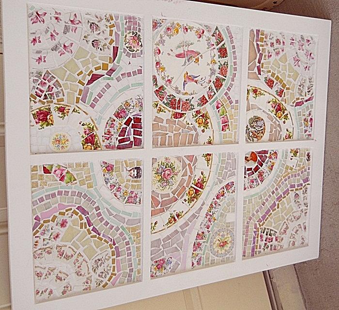 Myeuropeantouch Design: Shabby Chic Window Sash Pane Mosaic Wall Art