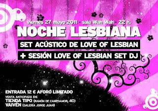 love of lesbian concierto acústico más sesión dj en Wah Wah Valencia. Mayo 2011