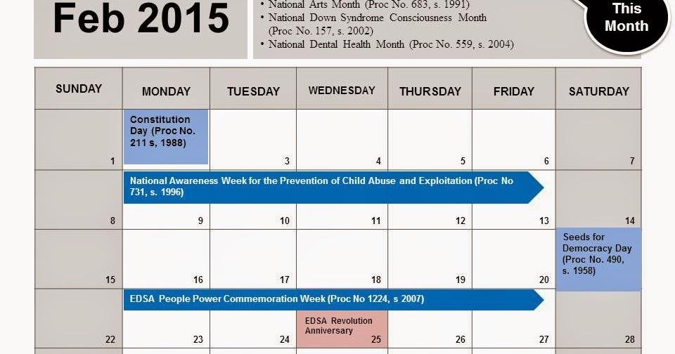 DepED-ARMM: School Calendar: February to March 2015